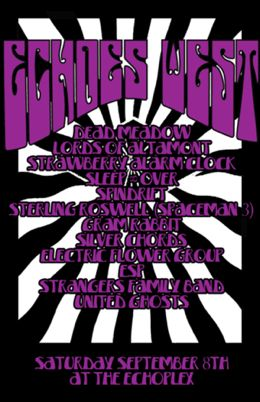 L.A. psychedelic music festival poster with Strawberry Alarm Clock