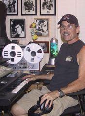 musician Mark Weitz in Steve Bartek's studio