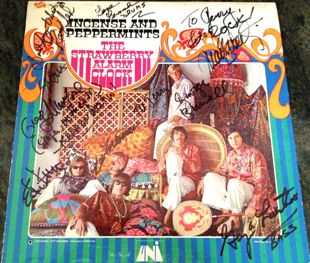 signed strawberry alarm clock album cover
